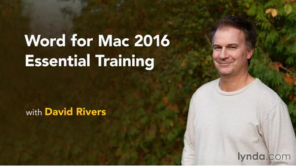 Next steps: Word for Mac 2016 Essential Training