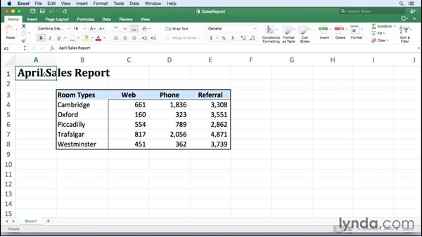 Creating and modifying workbook templates: Excel for Mac 2016 Essential Training