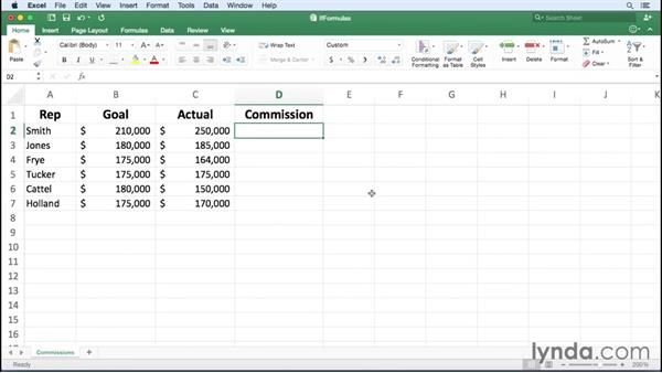 Summarizing data using an IF function: Excel for Mac 2016 Essential Training