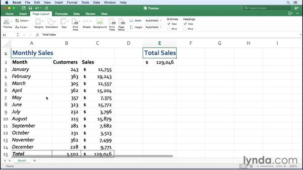 Managing Office themes: Excel for Mac 2016 Essential Training