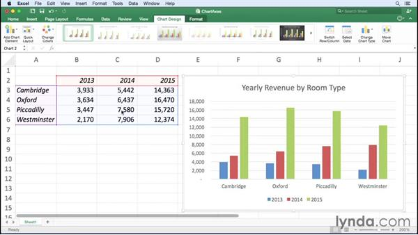 Managing chart axes and numbering: Excel for Mac 2016 Essential Training