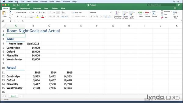 Protecting a workbook: Excel for Mac 2016 Essential Training