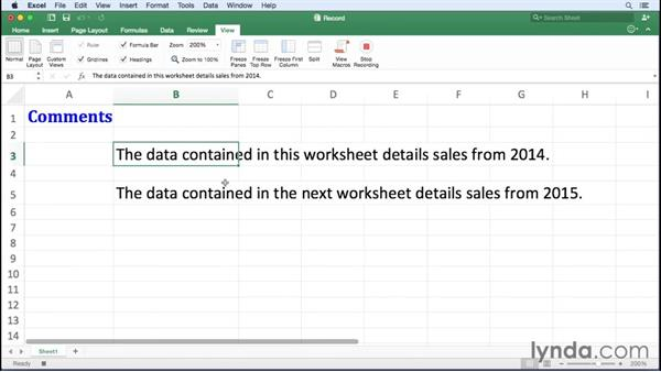 Recording a macro: Excel for Mac 2016 Essential Training