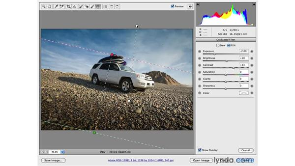 Enhancing foregrounds and backgrounds with the Graduated filter: Photoshop CS4 for Photographers: Camera Raw