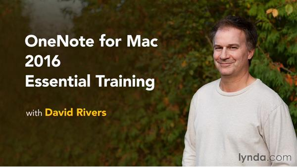 Next steps: OneNote for Mac 2016 Essential Training