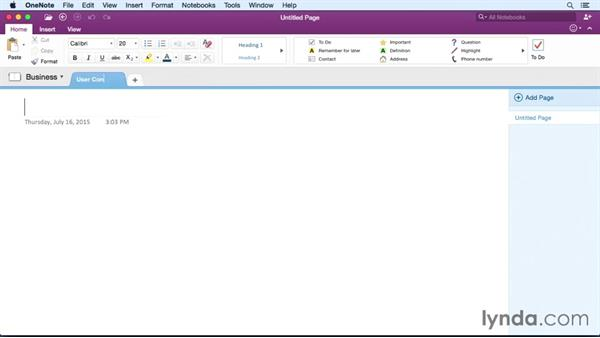 Welcome: Office 365 for Mac: OneNote Essential Training