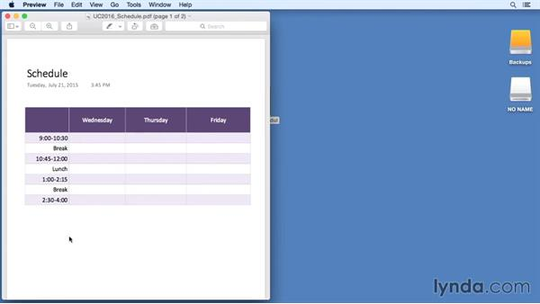 Saving to PDF: Office 365 for Mac: OneNote Essential Training