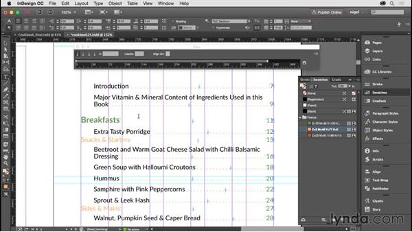Creating the table of contents, part 2: Designing an Illustrated Book