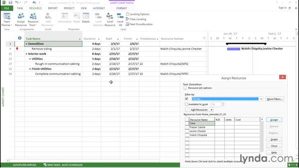Substituting resources during planning: Managing Resource-Constrained Projects with Microsoft Project