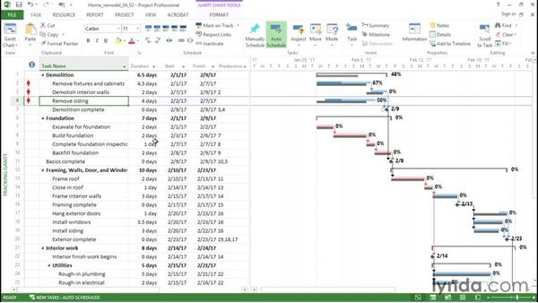 Recording progress: Managing Resource-Constrained Projects with Microsoft Project