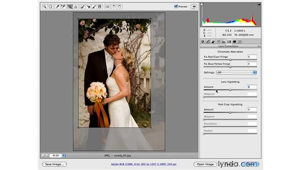 Adding a vignette into a photographic workflow: Photoshop CS4 for Photographers: Camera Raw