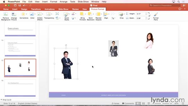 Aligning objects using guides: PowerPoint for Mac 2016 Essential Training