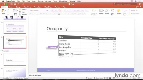 Formatting shapes: PowerPoint for Mac 2016 Essential Training
