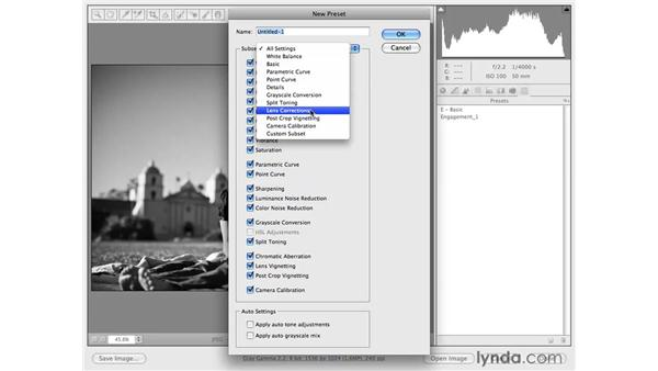 Creating functional presets: Photoshop CS4 for Photographers: Camera Raw