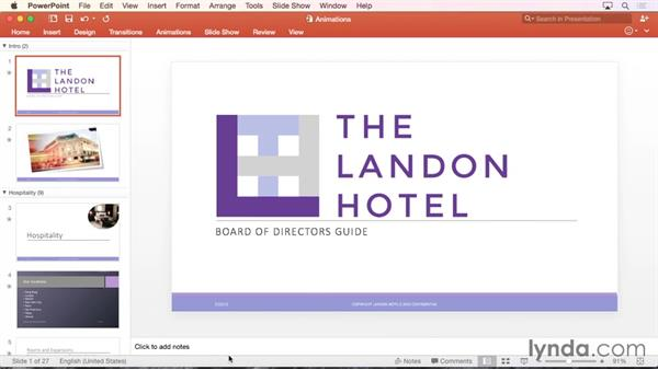Adding speaker notes: PowerPoint for Mac 2016 Essential Training