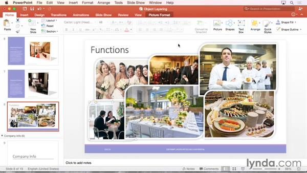 Understanding object layering: Office 365 for Mac: PowerPoint Essential Training