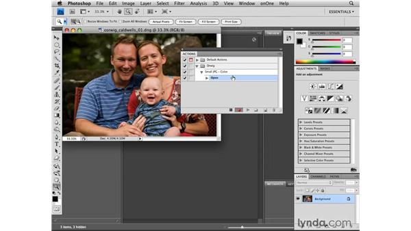 Recording an action: Photoshop CS4 for Photographers: Camera Raw