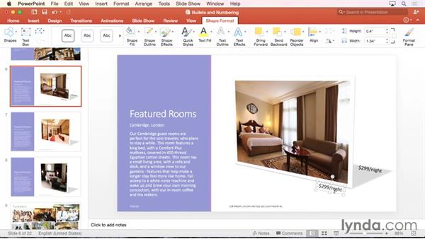 Working with text boxes: Office 365 for Mac: PowerPoint Essential Training