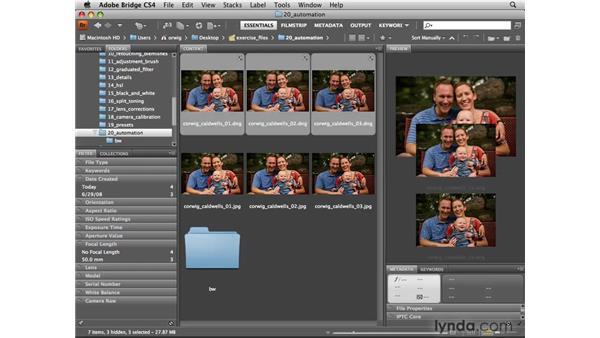 Modifying an action: Photoshop CS4 for Photographers: Camera Raw