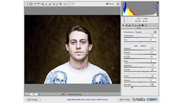 Edgy color and detail: Photoshop CS4 for Photographers: Camera Raw