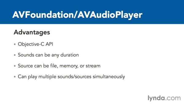Advantages and disadvantages of AVAudioPlayer: Creating Audio Apps for iOS