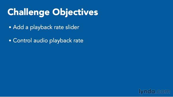 Challenge: Control the audio playback rate: Creating Audio Apps for iOS