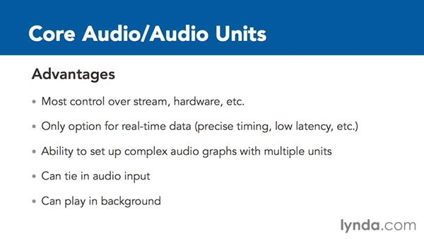 Advantages and disadvantages of Core Audio: Creating Audio Apps for iOS
