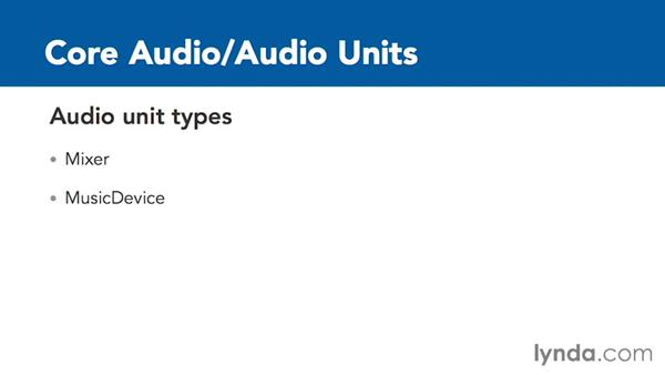 Overview of audio unit types: Creating Audio Apps for iOS