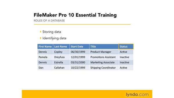 What is a database?: FileMaker Pro 10 Essential Training