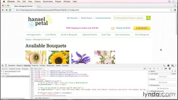 Debugging without a debugger: Debugging the Web: JavaScript