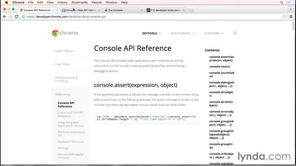 Leveraging more of the console API: Debugging the Web: JavaScript