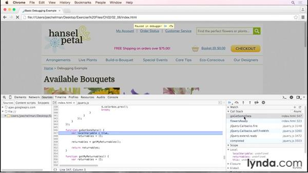 Finding out where you are using the call stack: Debugging the Web: JavaScript