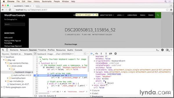 Debugging a WordPress theme in Firefox/Firebug: Debugging the Web: JavaScript