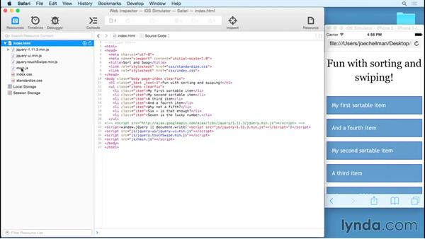 Debugging a mobile site in the Safari and iOS inspector: Debugging the Web: JavaScript