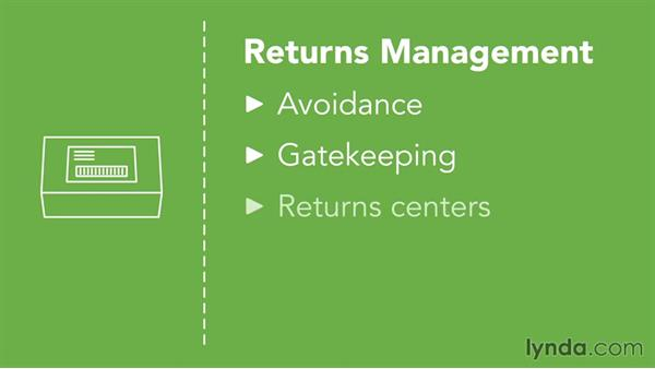 Managing returns: Fundamentals of Logistics
