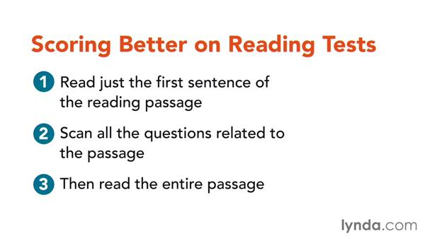 Scoring better on reading tests: Study Skills Fundamentals