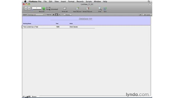 Using the basic Find options: FileMaker Pro 10 Essential Training