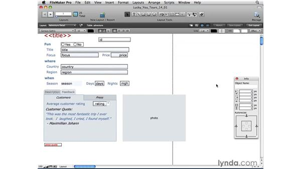 Previewing pages and print options: FileMaker Pro 10 Essential Training