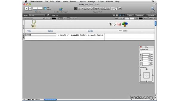 Printing from List view: FileMaker Pro 10 Essential Training