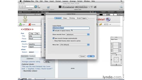 Printing from Detail view: FileMaker Pro 10 Essential Training