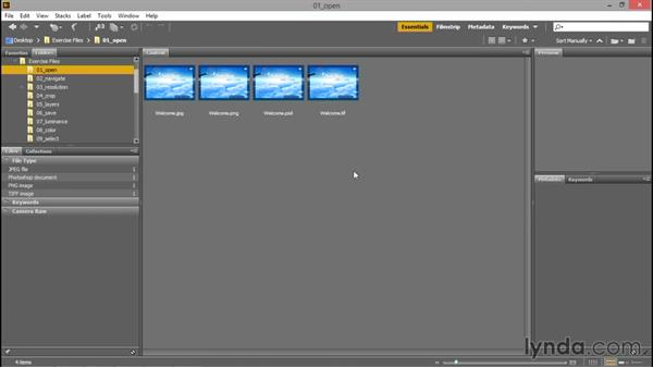 Opening an image from Photoshop or Bridge: Photoshop CC 2015 One-on-One: Fundamentals