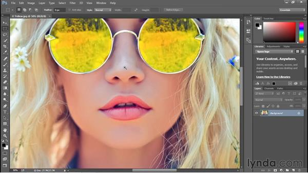 Using the more precise Zoom tool: Photoshop CC 2015 One-on-One: Fundamentals