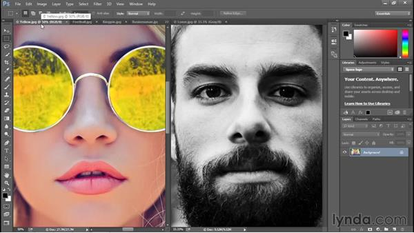 Switching between open images: Photoshop CC 2015 One-on-One: Fundamentals