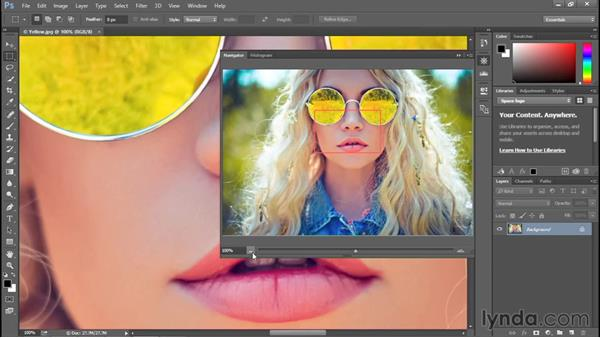 Using the Navigator panel: Photoshop CC 2015 One-on-One: Fundamentals