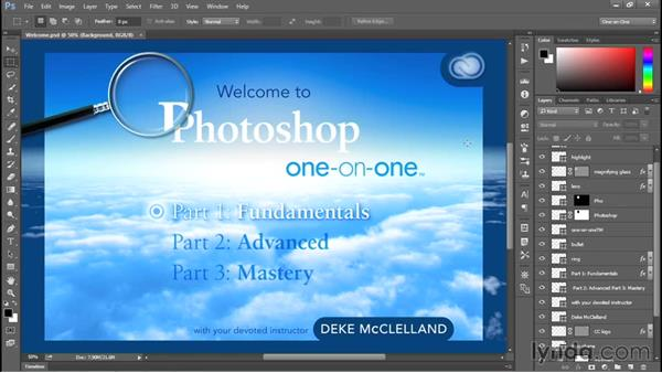 Updating a workspace: Photoshop CC 2015 One-on-One: Fundamentals