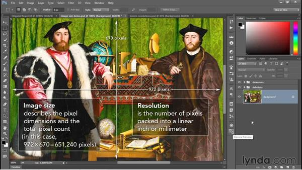Image size and resolution: Photoshop CC 2015 One-on-One: Fundamentals