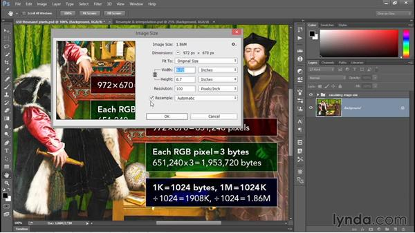 Introducing the Image Size command: Photoshop CC 2015 One-on-One: Fundamentals