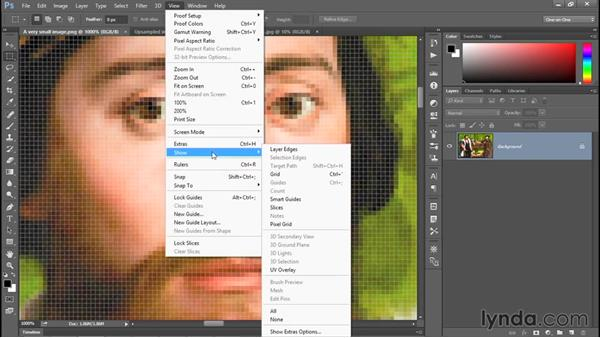 Upsampling vs. real high-resolution data: Photoshop CC 2015 One-on-One: Fundamentals