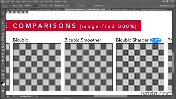 The six interpolation settings: Photoshop CC 2015 One-on-One: Fundamentals
