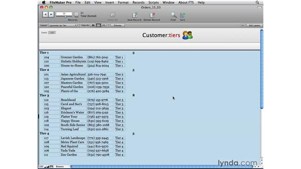 Building dynamic reports: FileMaker Pro 10 Essential Training